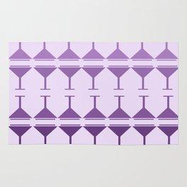 Monochromatic Martini - Purple Rug