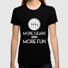 More Gears = More Fun Standard Manuals T-shirt