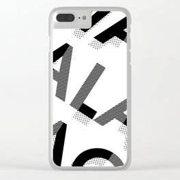 an attitude Clear iPhone Case