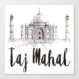 Taj Mahal watercolor Canvas Print