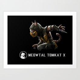 Meowtal Kombat Art Print