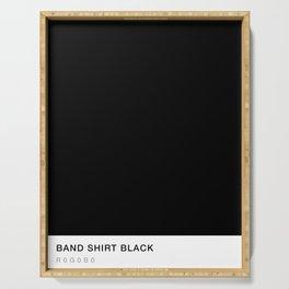 Band Shirt Black Serving Tray