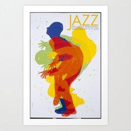 Affiche Jazz international festival AARHUS Art Print