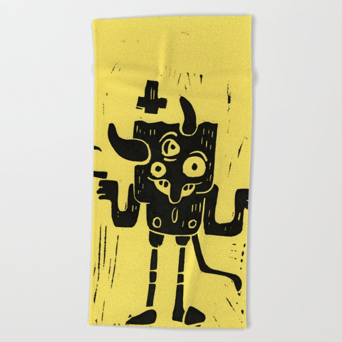 devil Beach Towel