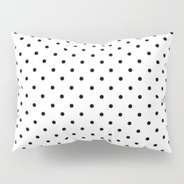 Minimal - Small black polka dots on white - Mix & Match with Simplicty of life Pillow Sham