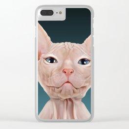 Sphynx Kitten II Clear iPhone Case