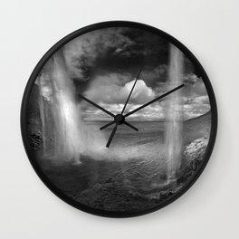 Iceland Waterfall Seljalandsfoss Wall Clock