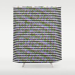 Disco Light and Stripes Shower Curtain