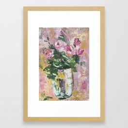 Pallette Roses Framed Art Print