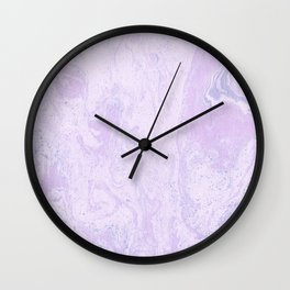 Pink Purple and Blue Marble Pattern Wall Clock