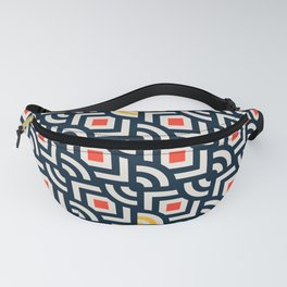 Round Pegs Square Pegs Navy Blue Fanny Pack