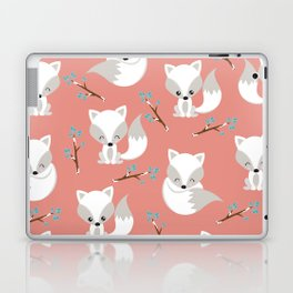 ARCTIC FOXES ON CORAL Laptop & iPad Skin