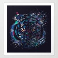 fierce Art Prints featuring FIERCE by dan elijah g. fajardo