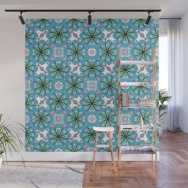 Floral Lattice Wall Mural