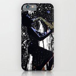 LADY JAZZ SAXOPHONE MUSIC AMONG THE STARS iPhone Case