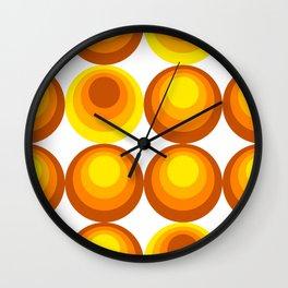 vintage fantasy gradient dots Wall Clock