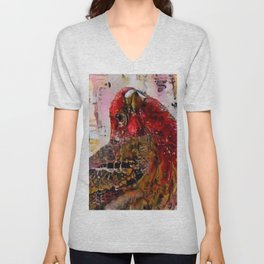 House Finch Unisex V-Neck