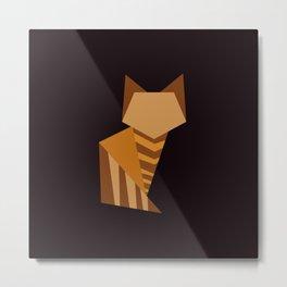 Little Orange Cat Metal Print