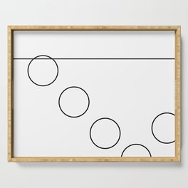 The Falling Circle Serving Tray