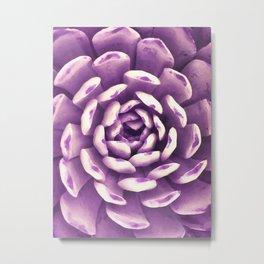 Ultra Violet Watercolor Succulent Metal Print