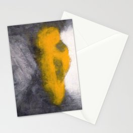TAXI seen through a foggy window Stationery Cards