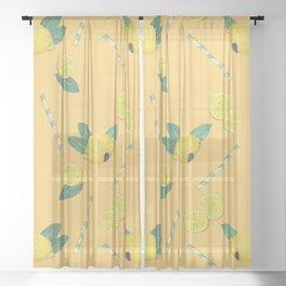 lemonade yellow Sheer Curtain