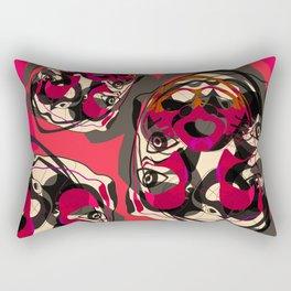 Pink Andean Bear Rectangular Pillow