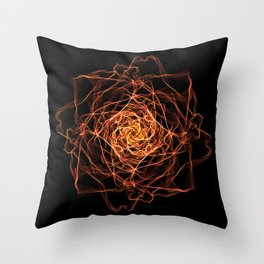 Fire Rose Throw Pillow
