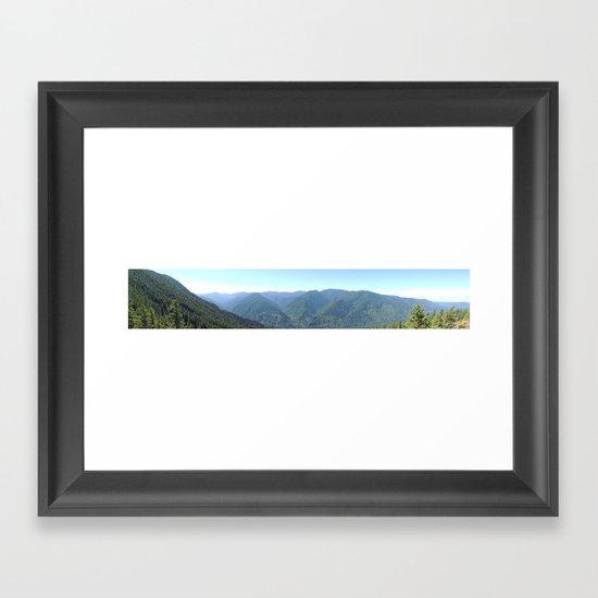 Salmon Wilderness Framed Art Print