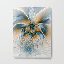 Soaring, Abstract Fractal Art Metal Print