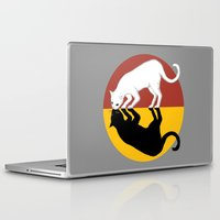 lunar Laptop & iPad Skins featuring Solar & Lunar by Tummeow