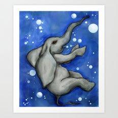 The Drowning Elephant Art Print