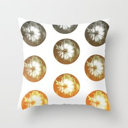 rusty circles Throw Pillow