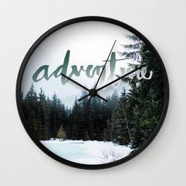 Adventure - Trillium Lake Wall Clock