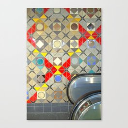Detroit People Mover Art Broadway Fort and Cass Canvas Print