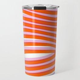 electric zebra stripes Travel Mug