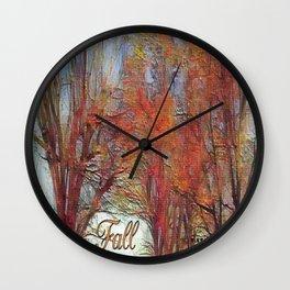 Fall Brilliance Wall Clock