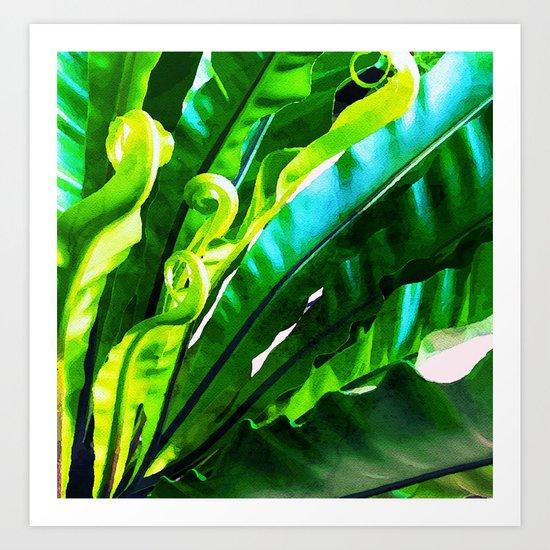 Shy Fern #society6 #decor #buyart Art Print