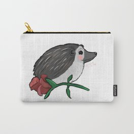 Hedgehog Rose Carry-All Pouch