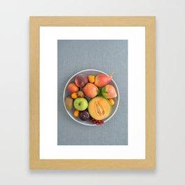 Fruits on a plate Framed Art Print