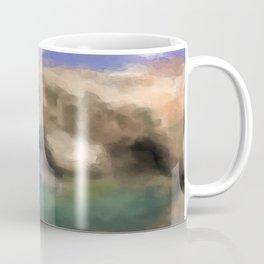 Azure Window In Gozo Island Watercolor Coffee Mug