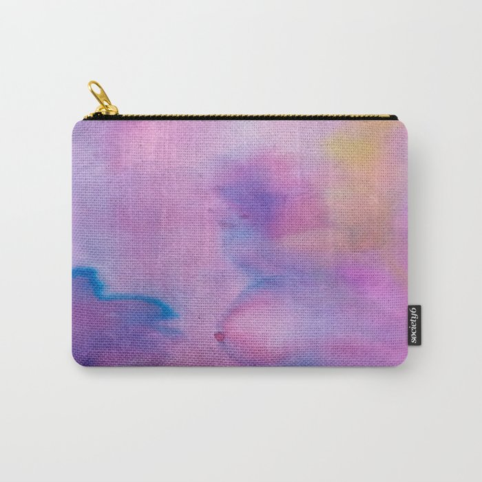 Purple Watercolour Carry-All Pouch