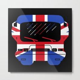 British Flag Classic Motorhome   Gift Metal Print