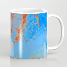 Psycho - Ring of Fire Acrylic Paint Flow Art by annmariescreations Coffee Mug