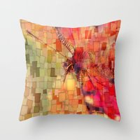 butterfly Throw Pillows featuring Butterfly   by Aloke Design