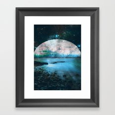 Mystic Lake Blue Green Framed Art Print