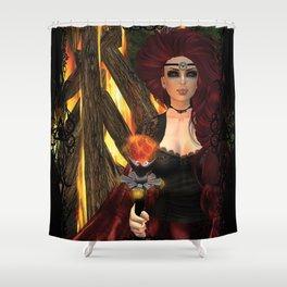 Ogina's Pyre Shower Curtain