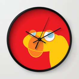 Disappointed Sock Monkey Wall Clock