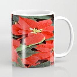 Beautiful Red Poinsettia Christmas Flowers Coffee Mug