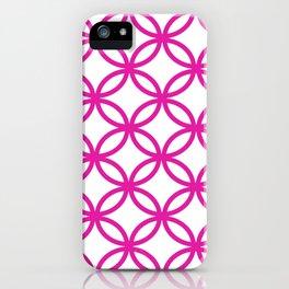 Interlocking Pink iPhone Case